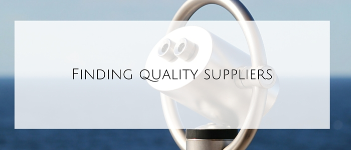 Finding quality suppliers