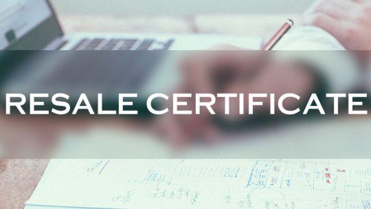 resale certificate 888 lots