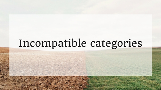 incompatible categories