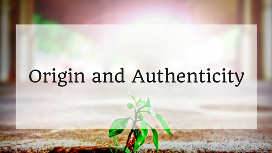 origin and authenticity