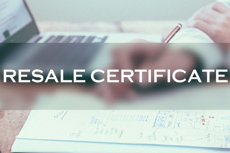 What Is A Resale Certificate And How To Get One In 2020 888 Lots Blog